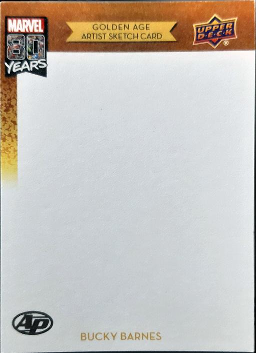 Marvel 80th Anniversary Blank Sketch Card