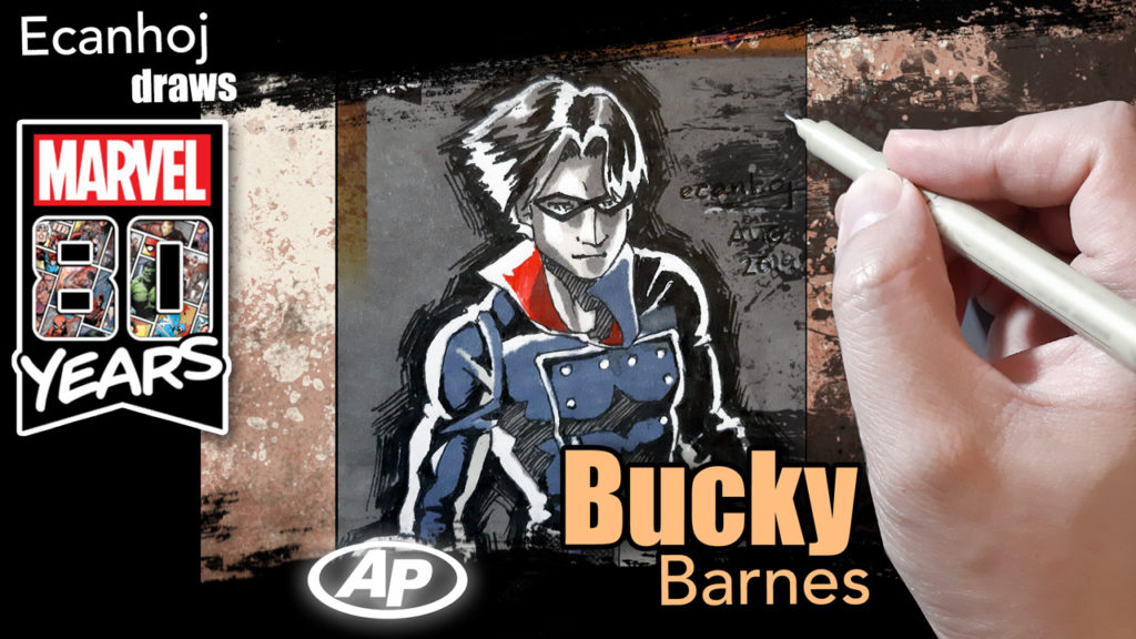 Bucky Barnes Winter Soldier- Marvel 80th anniversary ARTIST PROOF sketch card