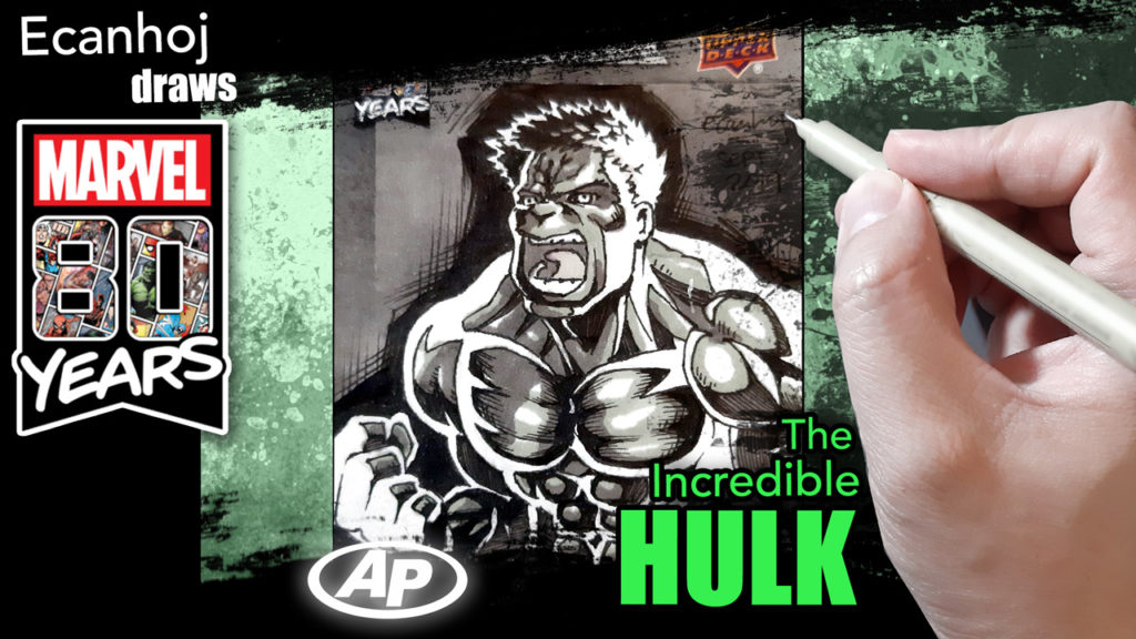 The Incredible HULK . - Marvel 80th anniversary ARTIST PROOF sketch card
