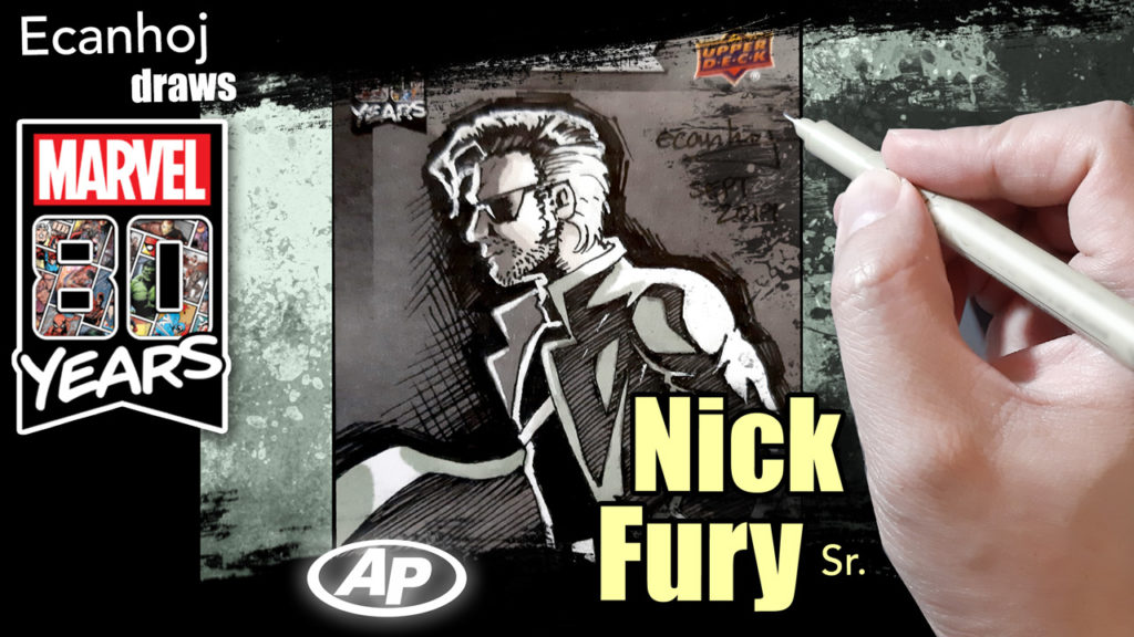 Nick Fury Sr. Marvel 80th anniversary ARTIST PROOF sketch card