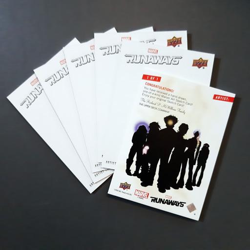MARVEL's Runaways Blank sketch cards - Ecanhoj