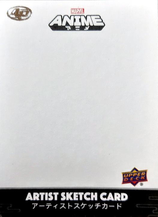 2020 MARVEL Anime Sketch card Artist Proof Ecanhoj blank