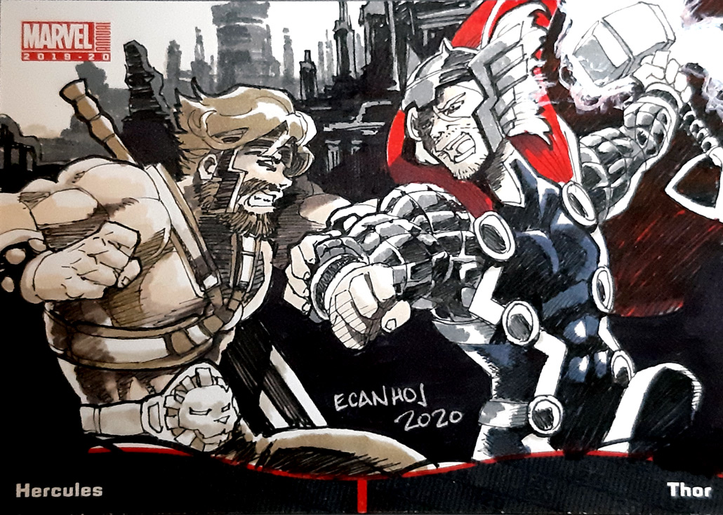 2020 MARVEL annual sketch card Pocket booklet Hercules and Thor
