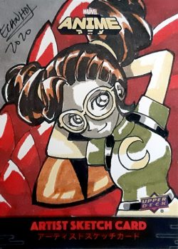 2020 MARVEL ANIME sketch card ecanhoj moongirl Lunella Lafayette
